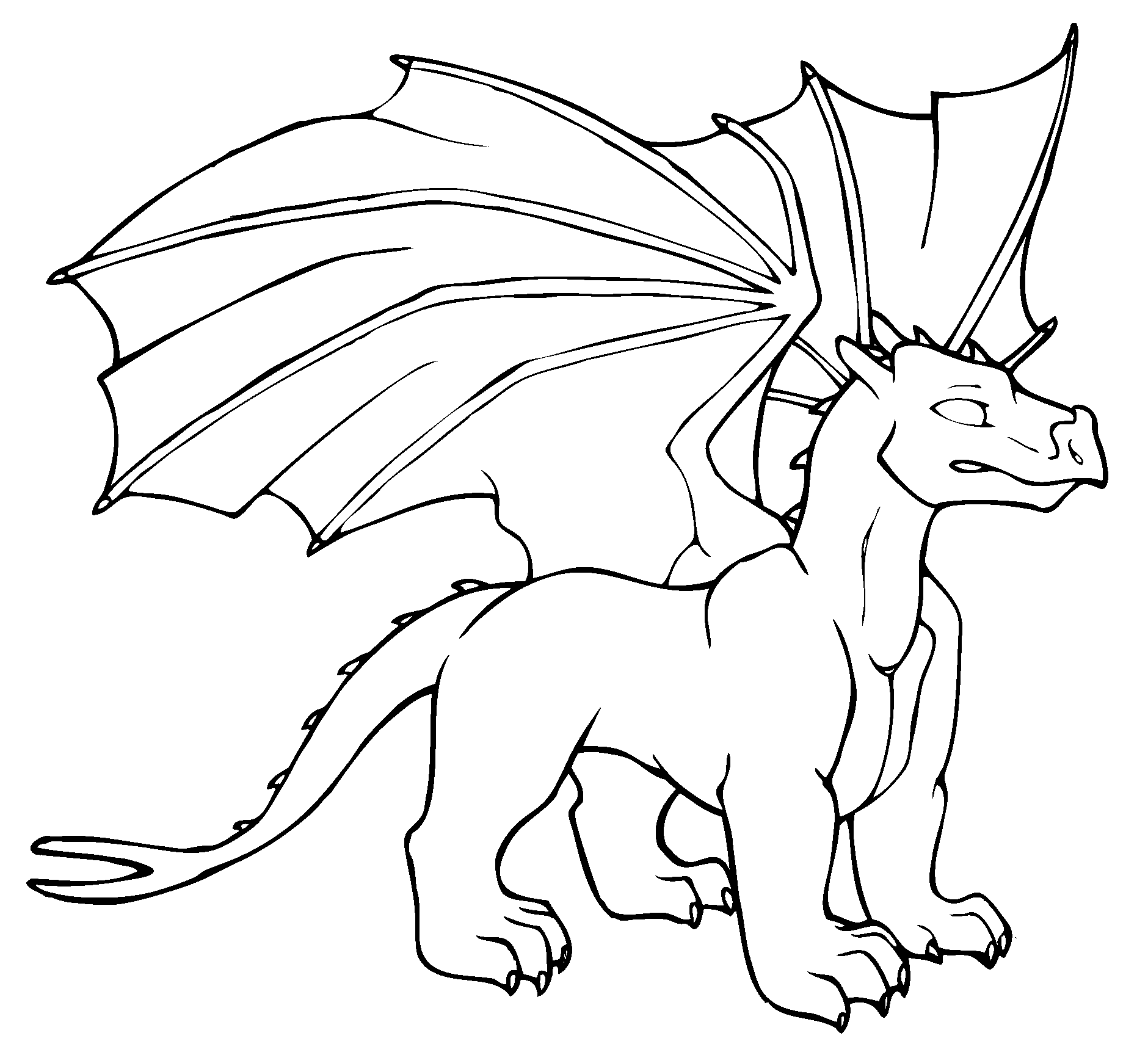 Cute Dragon Coloring Pages For Kids