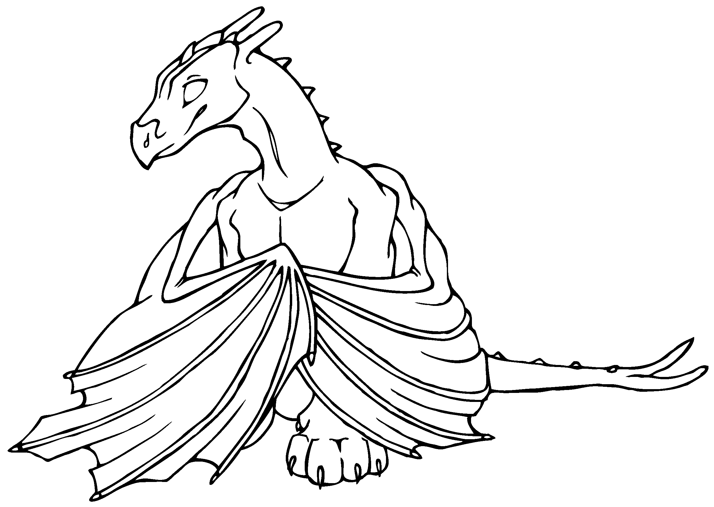dragon coloring book xanadu weyr - Dragon Coloring Books