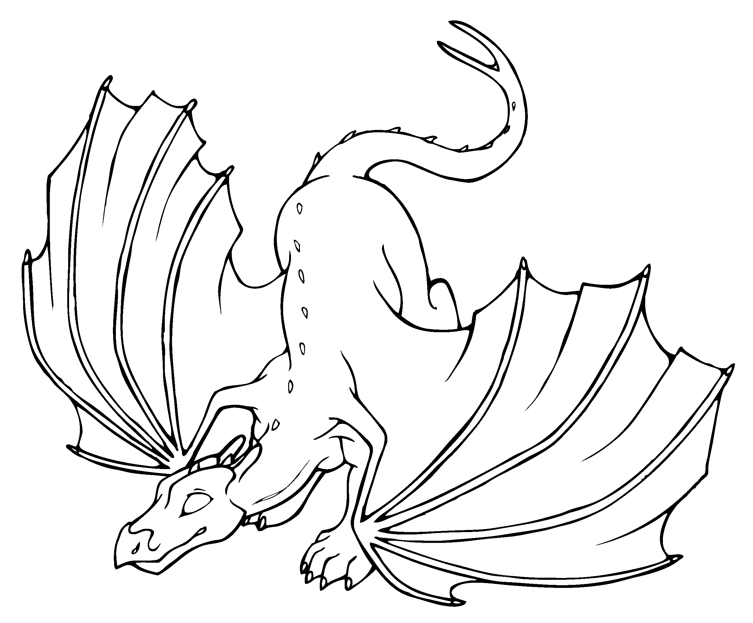 Coloring Book Dragons | Coloring Page